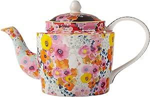 Maxwell Williams Cashmere Bloems 花卉茶壶,礼盒,骨瓷,多色 750 ml DX0182