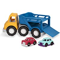 Battat Wonder Wheels — 汽车载车卡车 — 玩具卡车带 2 辆玩具车,适合 1 岁及以上的幼儿 (3…