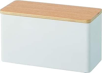 Yamazaki 山崎实业 Sanitari收纳盒 米色 约26X11X14cm 轮圈 厕所旋转整洁 小物件收纳 多功能收纳盒 4808