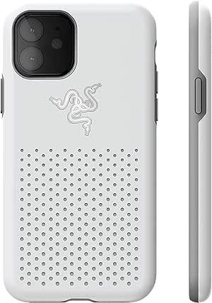 Razer Arctech Pro THS 版适用于 iPhone 11 Pro 手机壳:Thermaphene & Venting Performance 冷却 - 兼容无线充电 - Drop-Test 认证*高 10 英尺RC21-0145TM07-R3M1 Mercury White