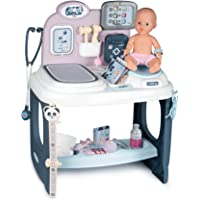 Smoby - 婴儿护理中心 - 适合38厘米以下的玩偶 - 带机械秤、研究桌和任何东西属于某种类型的猫咪 适合3岁以上…