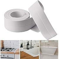 AIEX Caulk Strip PE 弹性自粘胶带防水密封胶带适用于厨房、浴室、浴缸、淋浴地板、墙壁边缘(白色 129…