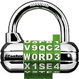主锁挂锁,设置您自己的单词组合锁,6.35 厘米。 宽,混色,1534D 多种颜色 1包 1534D