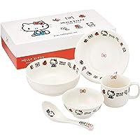 金正陶器 儿童餐具套装 白色 礼盒套装 凯蒂猫 伊布丽迪 311740 5件装