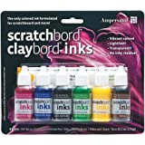 Ampersand Claybord/Scratchbord 墨水 6 件套,多色