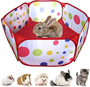 RYPET 可折叠小动物围栏 - 便携式小动物围栏 流行户外/室内运动围栏 适用于豚鼠、刺猬、仓鼠、绒毛和兔子