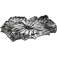 """Alessi""""A Lotus Leaf""""中心装饰,18/10 不锈钢镜面抛光,银色"""
