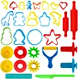 Dough 工具套件 24 PC Animal & Shapes Dough Tool Kit