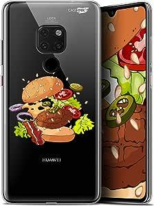 Huawei Mate 20 (6.5)手机壳手机壳[水晶保护壳凝胶高清系列食品设计甜甜圈 - 柔韧 - 超薄 - 法国印刷]CRYSPRNTMATE20BURGER  Huawei Mate 20 Huawei Mate 20 Splash Burger