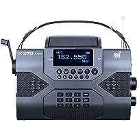Kaito 应急收音机Voyager Max KA900 数码太阳能动力曲柄发条 AM/FM/SW 和 NOAA 天气立…