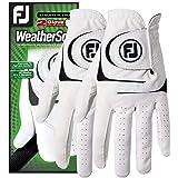 FootJoy WeatherSof 男士高尔夫手套(2 只装)