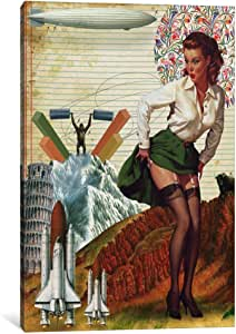 """iCanvasART Pinup #4 Canvas Print by Marcel Lisboa, 18 by 12""""/0.75"""" Deep"""