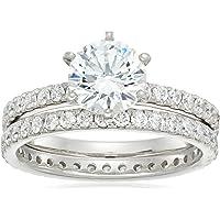 platinum-plated 标准纯银施华洛世奇锆石戒指套装