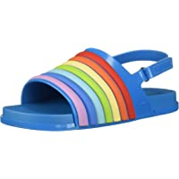 迷你 melissa 儿童迷你海滩 Slide 彩虹平底凉鞋