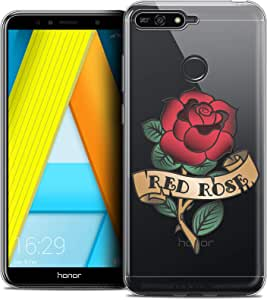 CASEINK 手机壳适用于华为荣耀 7A (5.7) - 水晶凝胶手机壳 HD Tatoo Lover 系列设计 - 享受生活 - 柔软 - 超薄 - 法国印制CRYSPRNTHONOR7AREDROSE  Soft Cover Honor 7A 红玫瑰