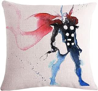 "Fyon *英雄靠垫套装饰性抱枕套 沙发,家庭,汽车 45.72 x 45.72 厘米 04a 18""X18"" FF170727PC04A"
