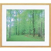 仲林 木质轻型相框 使用三角缘/透明PS板 木质纹理风格 2L判 自然色