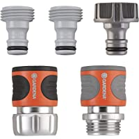 Gardena 软管接头套装 - 优质金属 1 件套 39042-BK