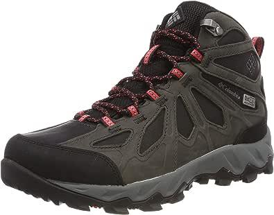 Columbia Lincoln Pass MID LTR Outdry 高帮徒步靴(黑色红色山茶色 010),9 (42 EU)