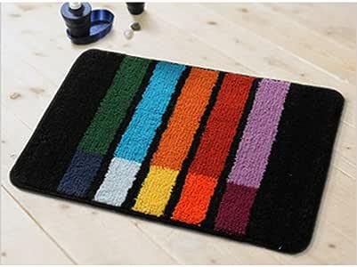 享家大达彩色花纹防滑吸水地垫50*80厘米DA7487