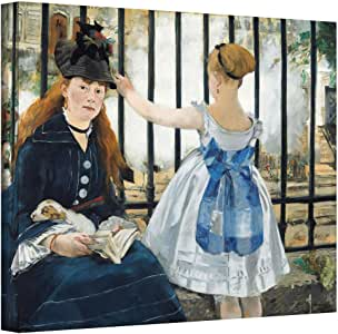 Art Wall manet-018-26x32-w Edouard Manet 'The Railway' Gallery-Wrapped Canvas Artwork, 26 by 32-Inch