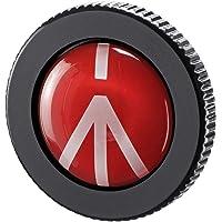 Manfrotto 曼富图 紧凑型实心铝制紧凑型快速释放板,适用于小型三脚架,黑色(圆形-PL)