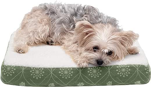 Furhaven 宠物狗床 – 清凉凝胶*泡沫*床垫宠物床适用于狗和猫样式 翡翠绿 小号