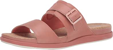 Clarks CloudSteppers 女式 Step June Tide 皮革露趾凉鞋