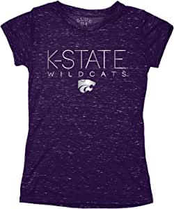 蓝色 84 NCAA 堪萨斯州野猫青年五彩纸屑 T 恤,XS 码,紫色