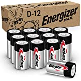 Energizer Max D Batteries, Premium Alkaline D Cell Batteries (12 Battery Count) - Packaging May Vary
