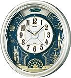 SEIKO 时钟 挂钟 电波 模拟 6首 旋律 旋转装饰 薄金色 珍珠 RE561H SEIKO
