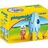 PLAYMOBIL 70186 1.2.3 宇航员带火箭,彩色