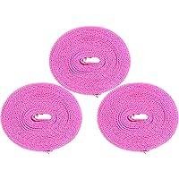 Neecan 防风旅行干燥绳便携式酒店衣服干燥线户外衣服线洗衣线 5 米 3 件装粉色 3 米