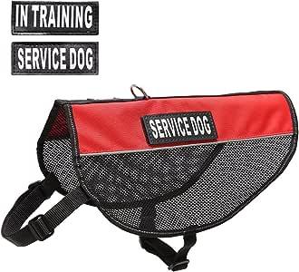 PUPTECK 反光轻质红色酷狗网背带服务狗狗训练补丁 红色 L