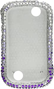 Aimo Wireless Bling Brilliance Premium Grade Diamond Case for Kyocera Milano/Jitterbug Touch C512 - Retail Packaging Purpel Waterfall