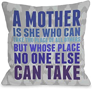 OBC Bentin 家居装饰妈妈抱枕套 Mother's Place Ikat - Gray Blue Violet 16x16 Pillow Cover 12150PL16C