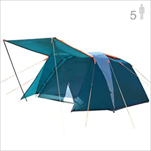 NTK Omaha GT 5 人 9 x 9 英尺户外圆顶家庭露营帐篷 * 防水 2500 毫米,易组装,耐磨面料雨,微蚊网,透气性强。