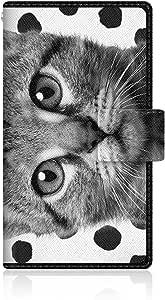 NYAGO x CaseMarket 【手册式】 F-05D ARROWS X LTE 皮革 细长 壳 针脚样式 [NYAGO 玳瑁 派乐 笔记本 细长 日记本 】皮革手册 2016 NEW 缝合 & 挂绳孔F-05D-VCM2S2243 白色