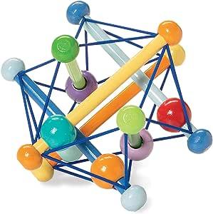 Manhattan Toy Skwish 经典摇铃牙胶抓握活动玩具 Color Burst