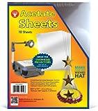 Hygloss Products 透明薄膜醋酸纤维板,适用于头顶投影仪、艺术和工艺项目,8.5 英寸 x 11 英寸 10 张