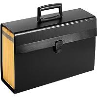 Portafile 信件/法律扩展收纳袋,19 个口袋,信件,黑色 黑色 3 件装