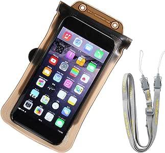 DICAPac 通用防水手机壳带 IPX8 认证适用于 iPhone 7 7 Plus 6s 6s Plus SE 5s Galaxy S7 S6 Edge 和其他智能手机,尺寸为 6.3 x 3.3 英寸
