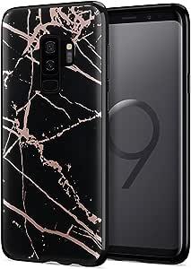 母亲节礼品 deals sale 2018GALAXY S9PLUS 手机壳 [ 大理石系列 ] 纤薄防刮奢华时尚软 TPU 保护套适用于 Samsung Galaxy S9PLUS/S9+ Black Gold B Samsung Galaxy S9 Plus