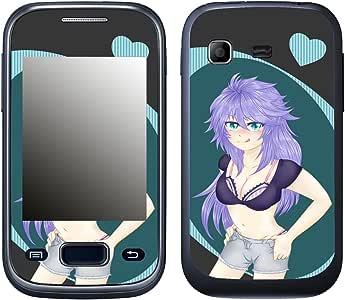 DISAGU SF 106490 _ 999 设计薄膜 适用于三星 S5301 Galaxy Pocket Plus - Ecchi Girl 01 蓝色