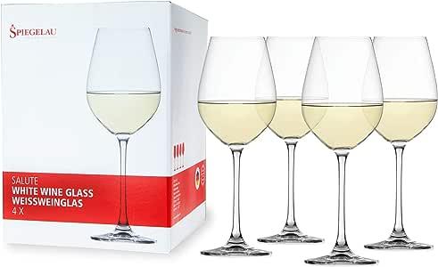 Spiegelau Salute 白色*杯 - (透明水晶,一套 4 瓶,16.4 盎司。 容量(每个)