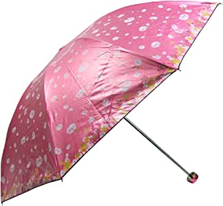 天堂伞 三折超轻超强 防紫外线彩胶印花 遮阳晴雨伞 3336E 花季恋歌 粉色