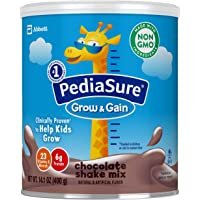 Similac 雅培 PediaSure Grow & Gain 无麸质儿童营养奶粉,含蛋白质,DHA,抗氧化剂,维生素和矿物质,巧克力味,14.1盎司/400g,3件装