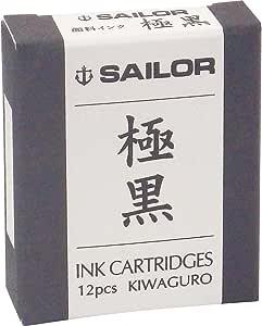 SAILOR 钢笔 颜料墨盒墨水 极黑 13-0604-120