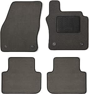 MICHELIN 745-2596 脚垫 花卉灰 带小脚跟垫和黑色比例装订 Florence Grey 定制