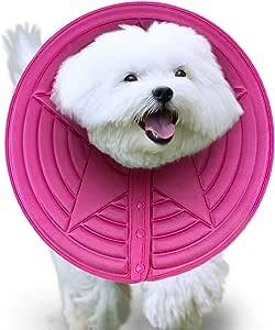 Meric 狗狗舒适锥形,M 内径 3.9 英寸 粉色恢复项圈,轻质耐用泡沫,消除咬合和咀嚼,适合 11.8 英寸 - 16.5 英寸的小型犬,如马尔济斯犬、玩具贵宾犬和